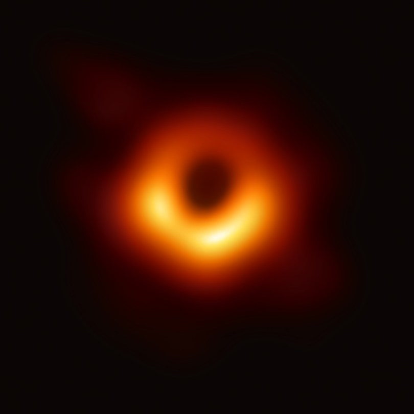 Image of a black hole by the Event Horizon Telescope.