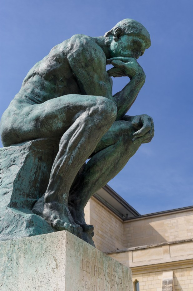 Image of Rodin's The Thinker.