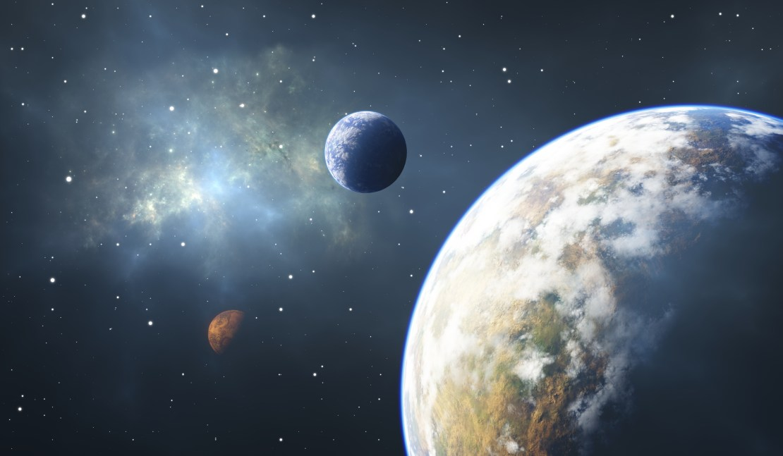 Planets in space.