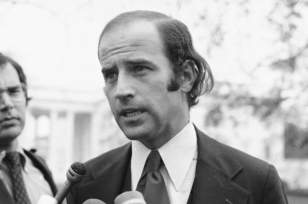 Joe Biden speaks in 1972.