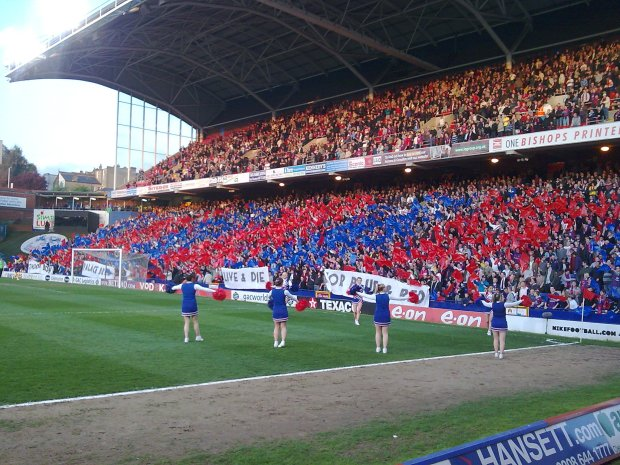 Crystal Palace fans at a match.