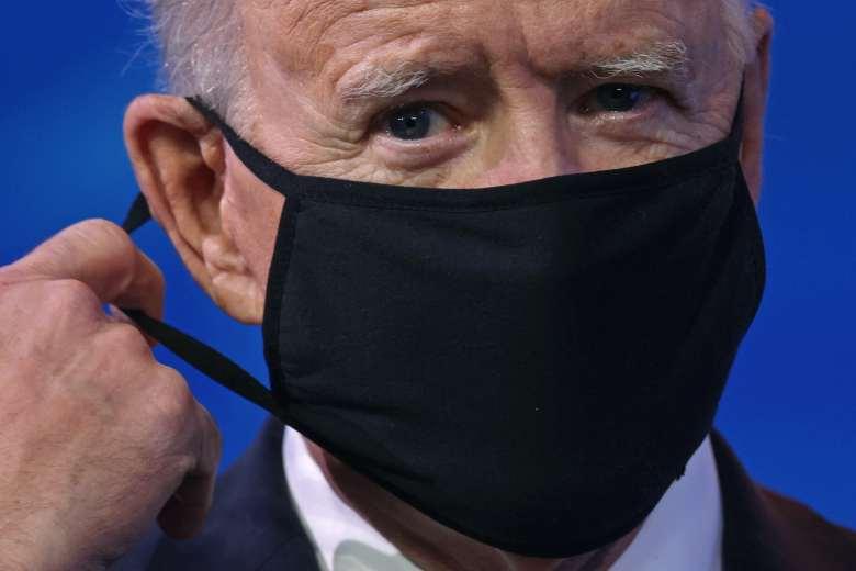 President Joe Biden, wearing a mask.