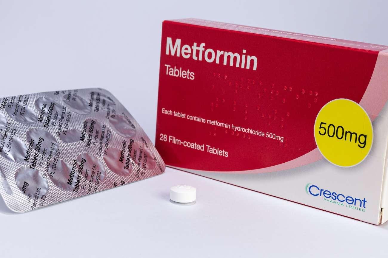 Una scatola di compresse di metformina.