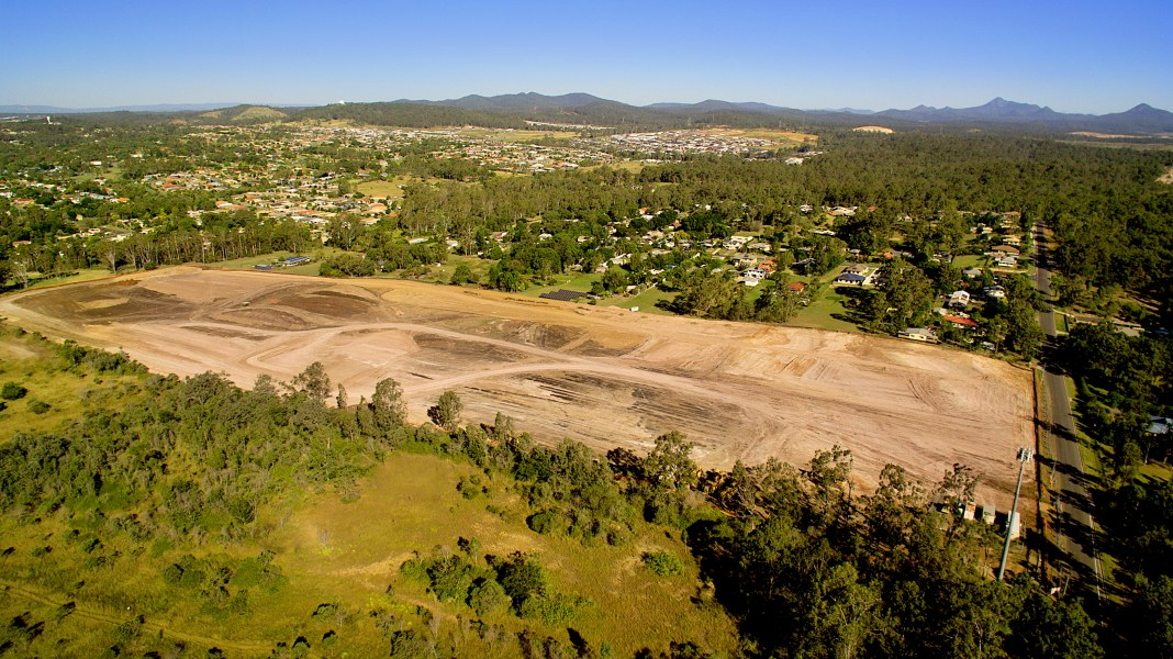 Land cleared for development