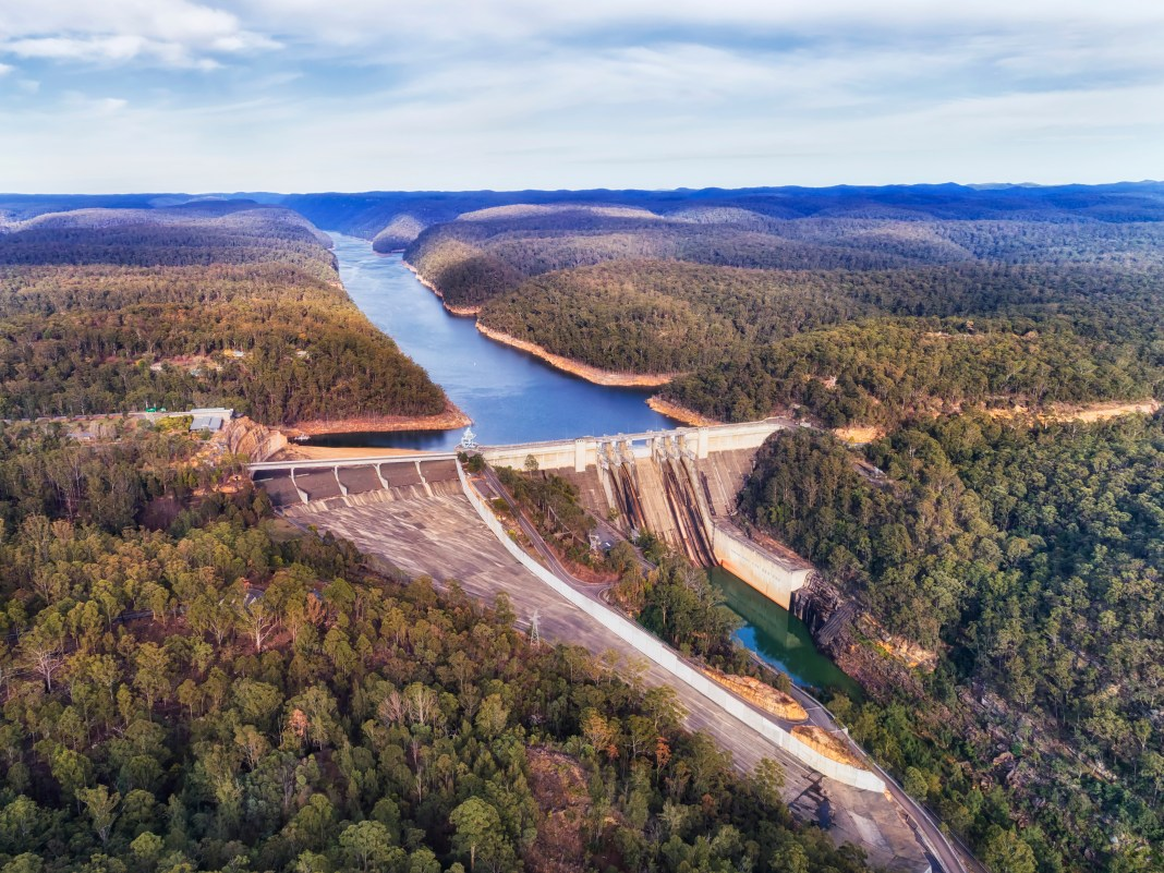 Aerial view of Warragamba Dam