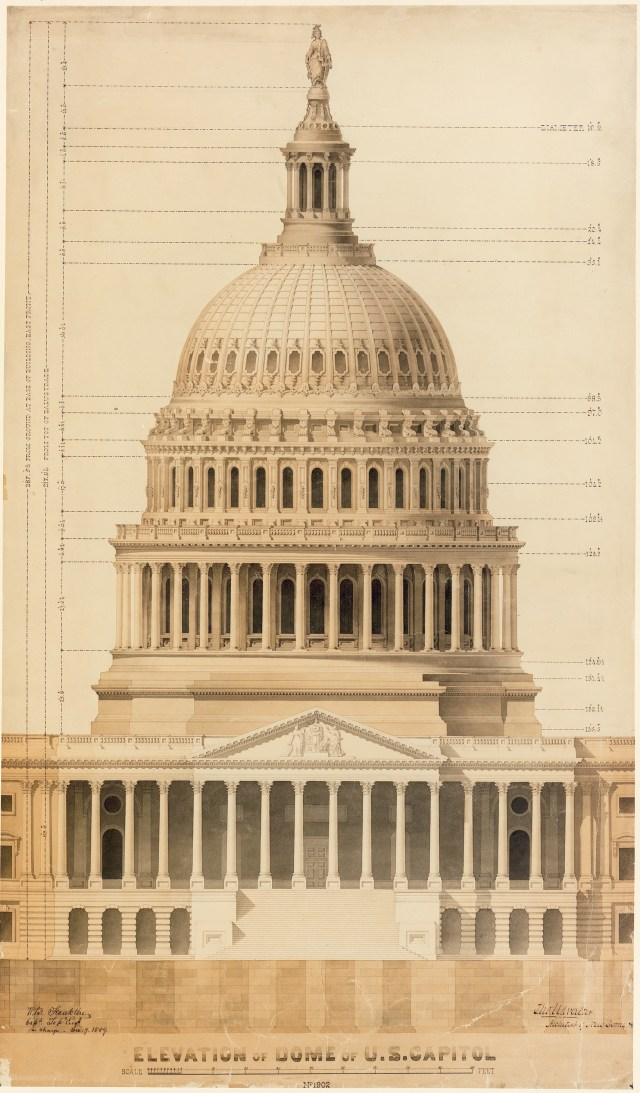 Rendering of the Capitol dome