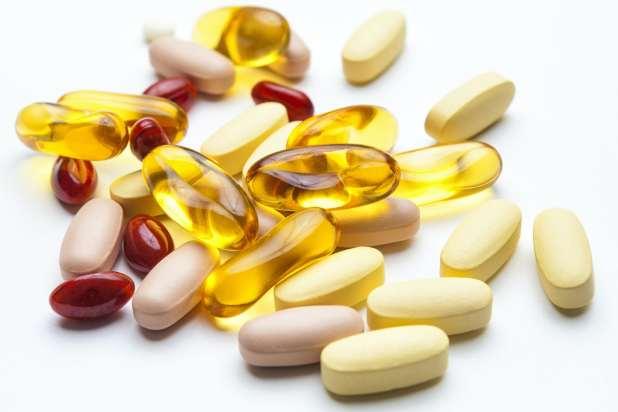 A variety of vitamin tablets