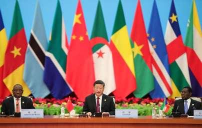 Xi Jinping, Cyril Ramaphosa et Teodoro Obiang