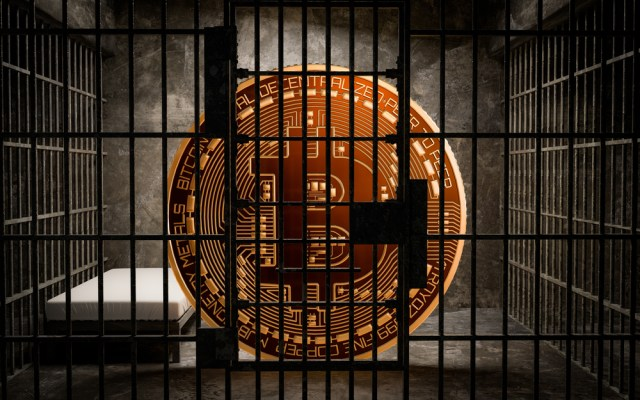 Bitcoin locked up in jail