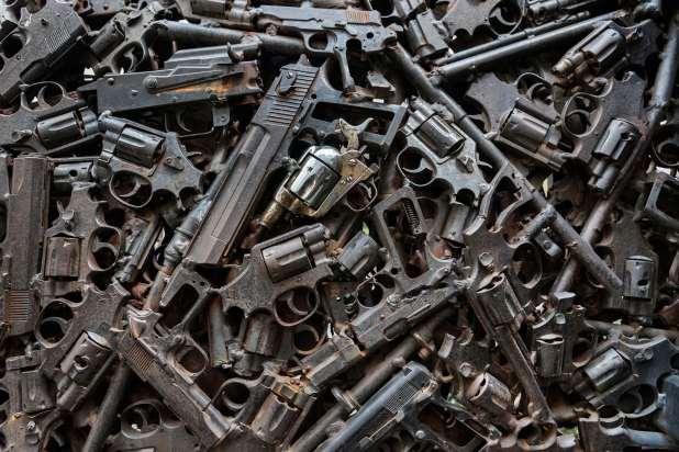Armas incautadas en México.