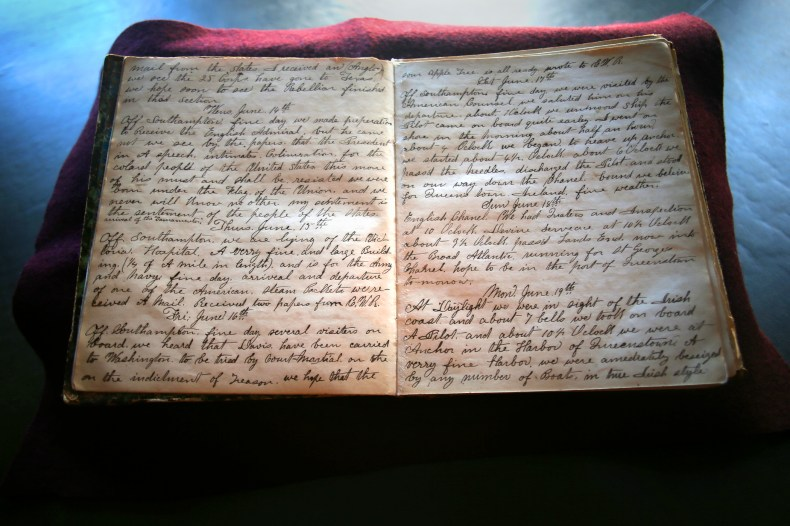 Pages of a diary written in black ink.