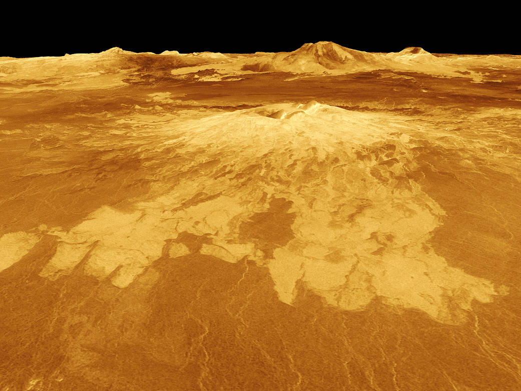 Computer-generated view of the surface of Venus