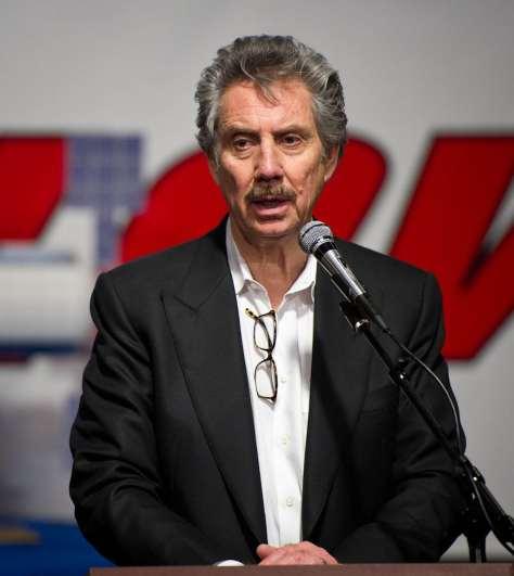 US businessman Robert Bigelow, making a speech in 2011.