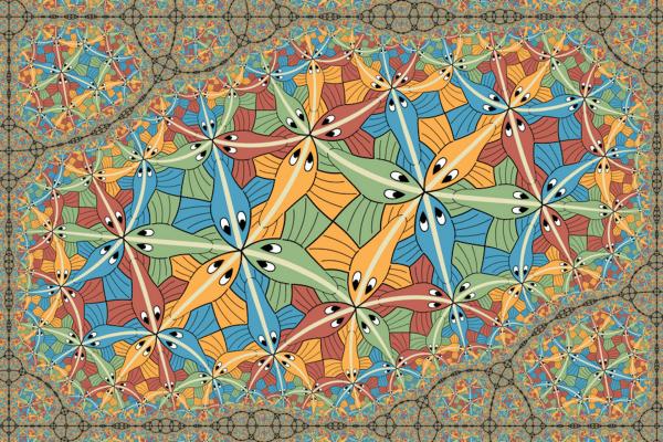 A fractal Escher artwork