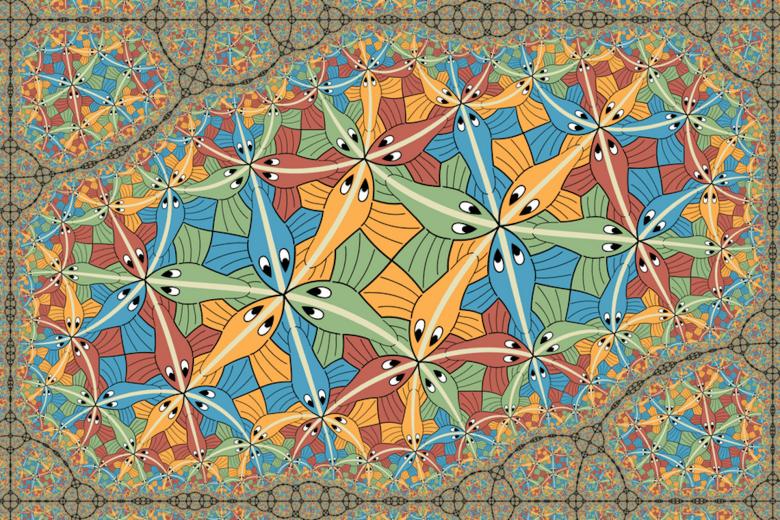 Una obra de arte fractal de Escher