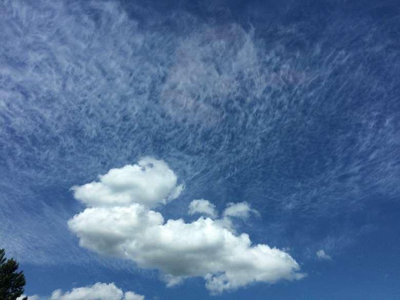 Múltiples tipos de nubes