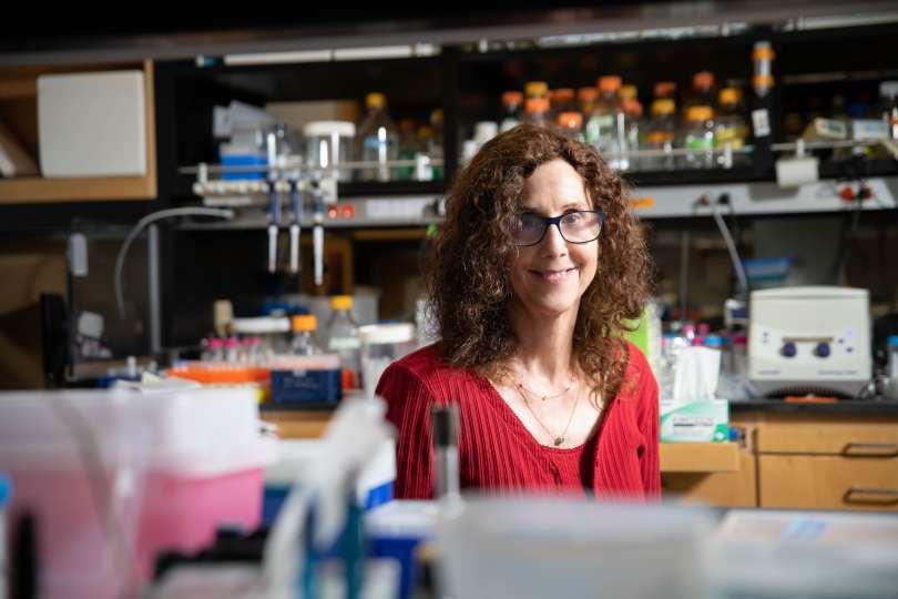 A female scientist in a lab.