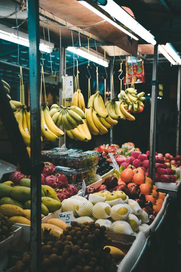 Central market in Malaysia, fruit stall