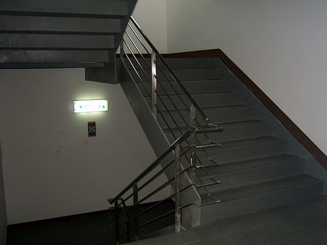 Stairwell in building in Taiwan