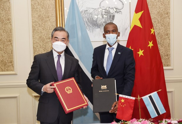 Two diplomats hold portfolios.