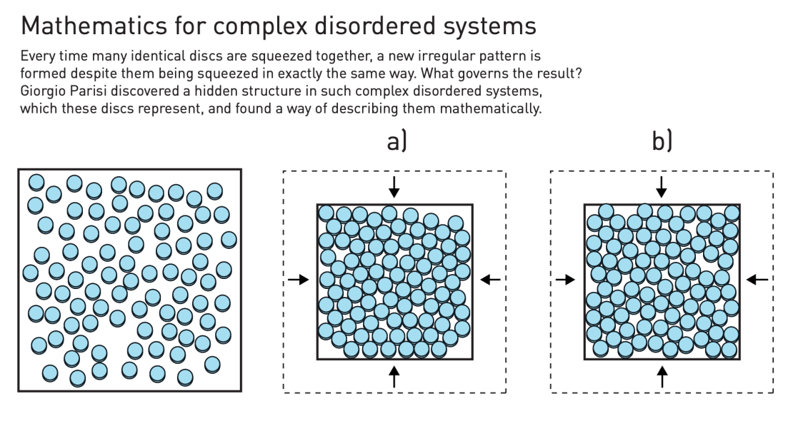 A diagram demonstrating complex disordered systems