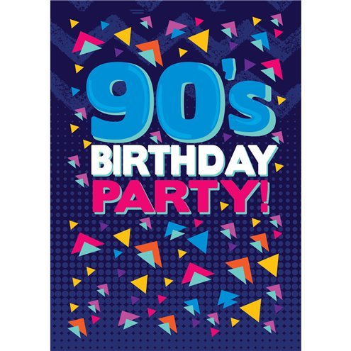90s themed party invitation cards small