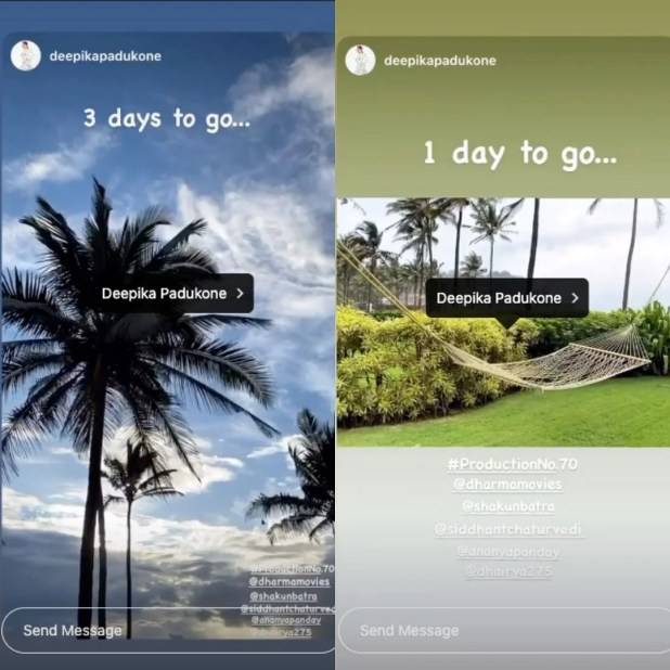 Deepika Padukone's Instagram post.