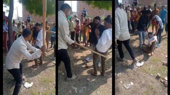 Gau Rakshak' Manoj Thakur Beats a Muslim Man, Shakir, in UP's Moradabad, 2  FIRs Filed
