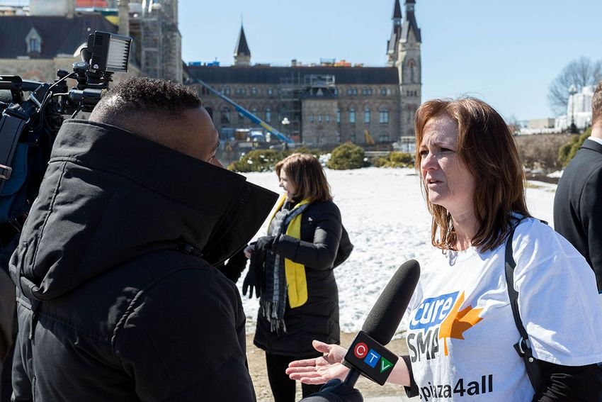 Susi speaking with CTV News on March 20th, 2018 in Ottawa, ON