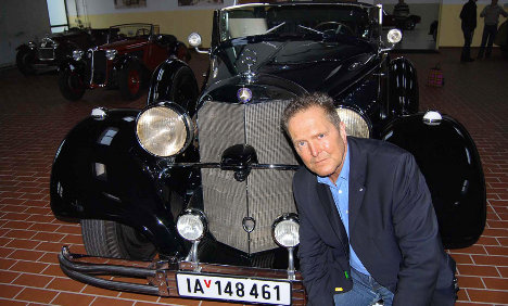 Fröhlich and  Adolf's Benz. Picture courtesy TheLocal.de