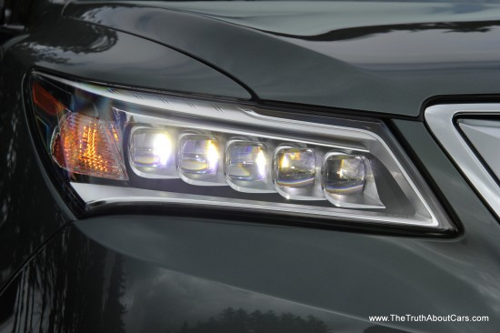 2014 Acura MDX Exterior, LED Headlamps, Picture Courtesy of Alex L. Dykes