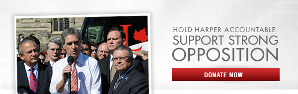 Hold Harper accountable. Support strong opposition.