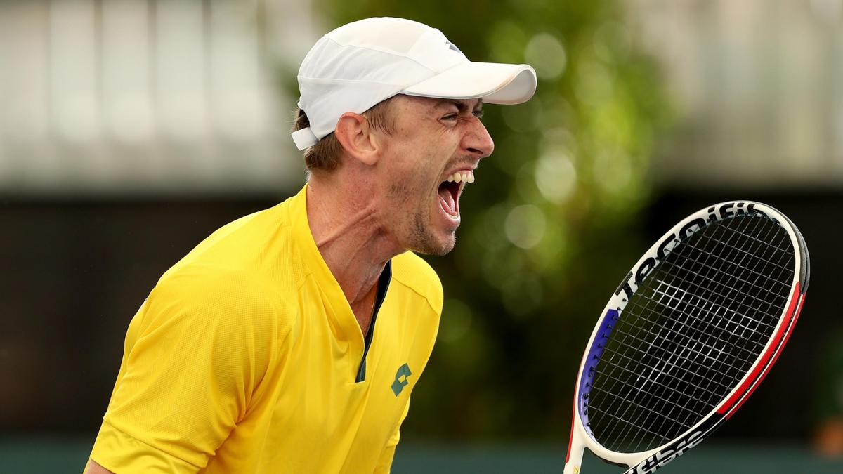 Aussies one win away from Davis Cup tie