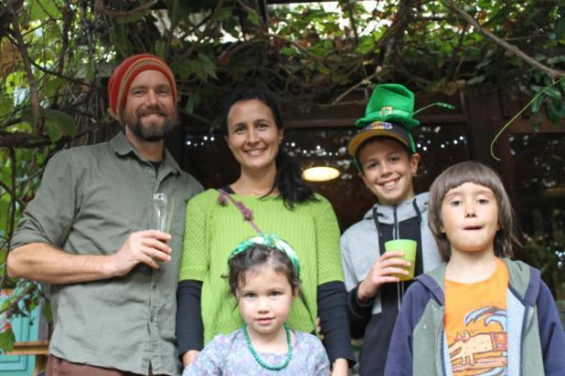 Cameron and Awhina Baker and their children Jeeko, 5, Buckeley, 12, and Timon, 8.