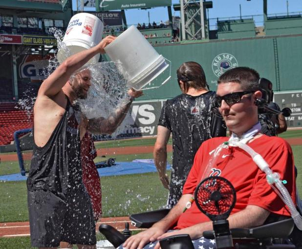 Former Boston College baseball player Pete Frates helped inspire the ALS ice bucket challenge.