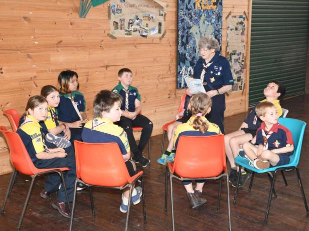 Beth Franz with the Denmark Scouts Group.