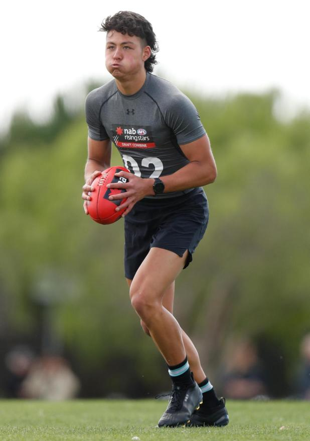 Connor Downie is hoping to get snapped up in the AFL Draft.