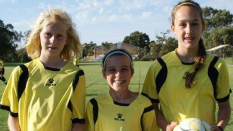 Hana Lowry and Tijan McKenna in 2015, when they were selected in the U-12 WA team for the Australia Pacific School Games.