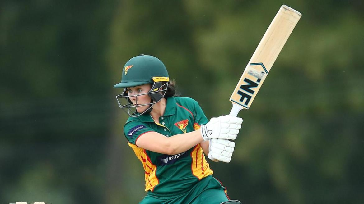 Heather Graham of the Tigers bats during the WNCL match between South Australia and Tasmania.