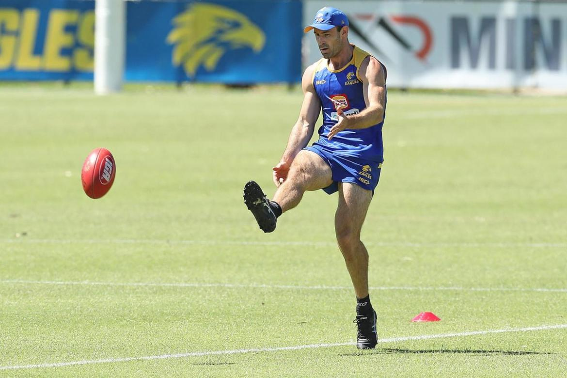 Shannon Hurn remains on track to become the first Eagle to play 300 games.