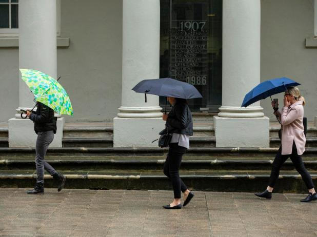 The wet weather is predicted to set in on the weekend.
