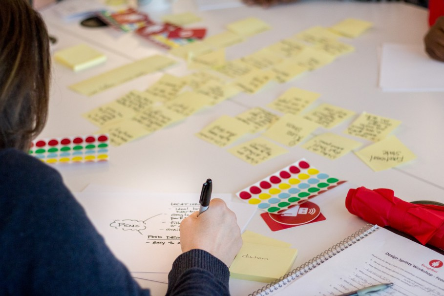 Working through a Design Sprint using Jobs-to-be-Done research