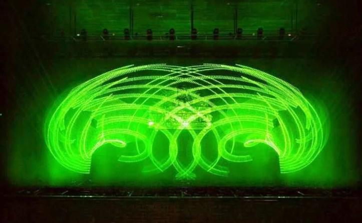 laser show at Jog Falls