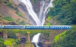 Image result for Dudhsagar fall