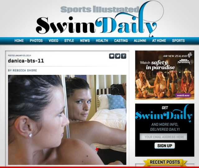 Danica Patrick Sports Illustrated Pulls Down Nipple Pic