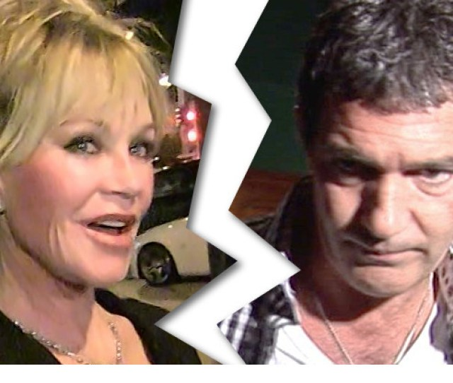 Melanie Griffith And Antonio Banderas Are Officially Single After Dividing A Huge Chunk Of Movie Change