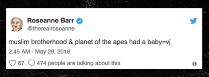 roseanne barr racist tweet