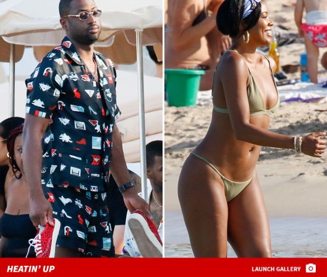Gabrielle Union Looks Unreal Flaunting Her Insane Physique During A Beach Trip To Ibiza With That Guy Shes Married To And The Photos Are Awesome