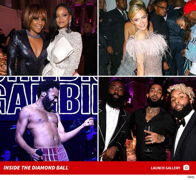 Rihanna Shines Bright Among Stars at Her NYFW Diamond Ball Bash