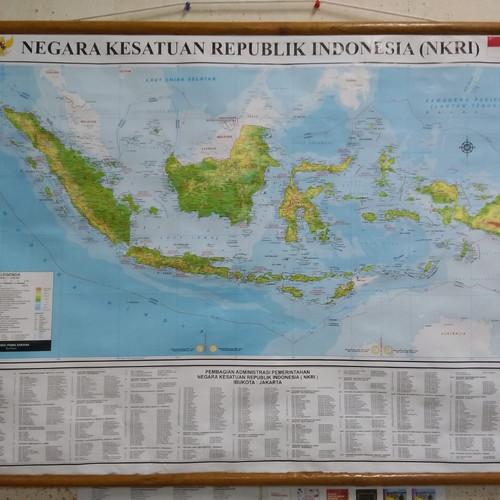 Gambar peta indonesia tanpa tulisan. Jual Peta Bingkai Indonesia Kota Surabaya Toko Buku Uranus Hr Muhammad Tokopedia
